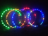 Barato Flash De Corpo Conduzido-Nova luz colorida Flash LED mais Hula Hoop Glow in Dark Fitness Sports Fitness Body Building Equipments