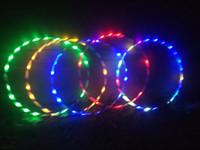 hoop para fitness venda por atacado-Novo colorido luz flash led plus hula hoop brilho em fitness escuro equipamentos de musculação esportes de fitness