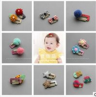 Wholesale Kinder Barrette - Baby safety pin Baby hair BB clip hair bald children tire of many kind of color