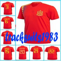 Wholesale First Homes - Rugby 2017 2018 Spain Jerseys NIESTA DIEGO COSTA FABREGAS SILVA 15 RAMOS 17 18 red home Jersey 10 or more free to send DHL First quality