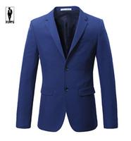 Wholesale Jacket Anzug - Wholesale- UR 07 Slim Fit Party Simple Anzug Handmade Plus Size Costume Homme Blazer Tuxedo Wedding Men Custom Mde Men Suit Jacket Clothes