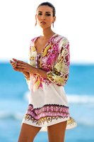 Wholesale Robes Plage - New Pareos Robe de plage Swimsuit cover up 2017 Chiffon Print Snake Beach Cover up Bathing suit Cover ups Tunic Bathing Suit Pareo 42156