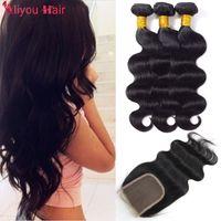 Wholesale Soft Brazilian Virgin Hair - Best Sale Items Mink Brazilian Virgin Human Hair Weave Bundles with Lace Closure 4x4 Soft Silk Body Wave Hair Weaves Closure Wholesale Deals