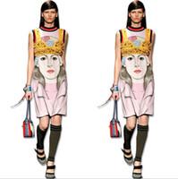 Wholesale Wholesale Cheap Bodycon Dresses - Newest fashion Women Casual Dress Plus Size Cheap China printed Dress 19 Designs Women Clothing Fashion Sleeveless Summer Dress