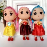 Wholesale Western Cotton Dresses - Hot selling Cute Mini Ddung ddgirl Dolls Phone Pendant Fashion Popular 12CM Gum Dolls Girl Toys good Christmas gift for girl Plush Toys