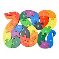 puzzle spiel holz großhandel-Wholesale-2016 neue Lernspielzeug Gehirn Spiel Kinder Wicklung Schlangenholz Spielzeug Holz Kinder 3d Puzzle Holz Brinquedo Madeira