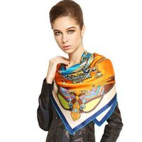Wholesale Hangzhou Scarf - Hangzhou silk scarf retro style gifts in spring and autumn, high-end fashion printing of silk scarf shawls