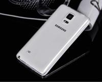 funda transparente para samsung s5 mini al por mayor-Para Samsung Galaxy S3 S4 S5 mini S6 S7 edge Suave TPU Ultra delgado Claro Transparente Volver Funda Bolsa de teléfono Cubierta de protección Shell