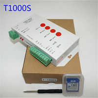 Wholesale Led Sd Card Controller - T1000S SD Card WS2801 WS2811 WS2812B LPD6803 LED 2048 Pixels Controller DC5~24V T-1000S RGB Controller