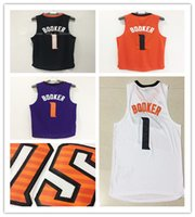 Wholesale Mixed Basketball Jersey - New Arrivals TOP 2017 Devin Booker Phoenix Basketball jersey BOOKER #1 Jogging Clothing Mix order new fabrics retro Jogging Clothin