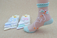 Wholesale Wholesale Nylon Socks For Girls - Baby Girl Socks Summer Kids Lace Socks Dragonfly Butterfly Sock 4 sizes for 0~12 Years kids