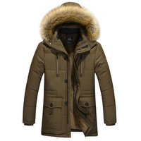 casaco de veludo xl venda por atacado-Atacado- 2016 roupa masculina de algodão longo jacke tautumnwinter material de revestimento de veludo quente Dad CoatsJackets espessamento jaqueta masculina amassado