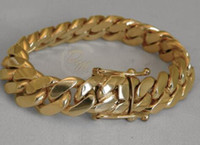 "Wholesale 14k Cuban Bracelet - Solid 14K Gold Miami Men's Cuban Curb Link Bracelet 8"" Heavy 98.7 Grams 12mm"