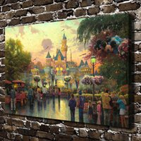 Wholesale Abstract Art Prints Canvas - HD Printed Thomas Kinkade Oil Painting Home Decoration Wall Art On Canvas 50th Anniversary Celebration 24x36inch Unframed