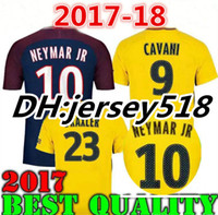 Wholesale Soccer Sports Jerseys - 2017 2018 NEYMAR JR shirt AURIER T SILVA CAVANI DI MARIA PASTORE Verratti 17 18 neymar jr jersey sports football LUCAS soccer jerseys