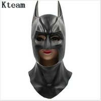 Wholesale kids batman party masks resale online - Top Grade Halloween black face batman mask costume adult kids full facial blackhead cosplay latex scary mask Gift masks for New Year Party
