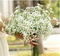 elegante weiße partydekor großhandel-Elegantes künstliches Baby Atem Gypsophila White Home Zimmer Büro Dekoration Hochzeit Party Decor Flor Künstliche