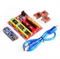 Wholesale Freeshipping DV4 CNC Shield V4 Nano A4988 Reprap Stepper Drivers Set for Arduino