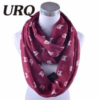 Wholesale Scarf Ring For Men - Wholesale- 2016 Winter Viscose Loop Scarf for Women Animal Print Infinity Scarfs Dog Style winter cotton Scarves Wraps V8A18729
