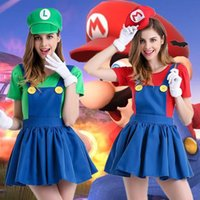 Wholesale Cute Japanese Lingerie - Hot Sale Cute Mario Halloween Costume Anime Game Role Play Dress Cosplay Sexy Lingerie