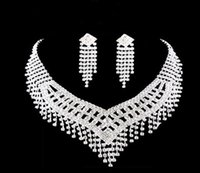 Wholesale Necklace Silver Beading - Best Selling Wedding Bridal Jewelry Beading Wedding Accessory Silver Plate In Stock Free Shipping Cheap Price