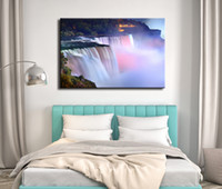 Wholesale Wall Art Picture Big Pink Fall At Night Spray Painting on Canvas Unframed Landscape Print Living Room Home Decoration sizes