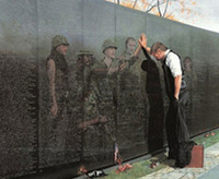 Wholesale art reflection - Framed Reflections by Lee Teter, Military Vietnam Memorial Wall,Pure Handpainted Art Oil Painting On Canvas.Multi sizes,skeb