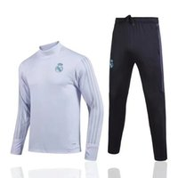 Wholesale Track Suits Jackets - Top quality 17 18 Real Madrid Tracksuit BALE Track suits jacket XXL XXXL 2017 2018 new Real Madrid chandal training suits sports wear