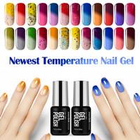 Wholesale polish fashion sale - Wholesale- 2016 Hot Sale Temperature Chameleon Nail Gel Polish UV Changing Color Gel Nail Polish Soak off Nail Polish Fashion Color 7ML