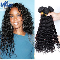 Wholesale Premium Hair Extensions Curly - MikeHAIR Premium Brazilian Deep Wave Curly Human Hair 3 Bundles Mink Brazilian Hair Weave Peruvian Indian Malaysian Remy Hair Extensions