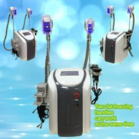 Wholesale Lipo Fat Laser - fat freezing machine waist slimming cavitation rf machine fat reduction lipo laser 2 freezing heads can work at the same time