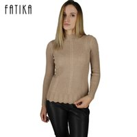 All'ingrosso- FATIKA Maglie Donna Pullover Maglia Maglia Donna Pullover Maglia Femminile Autunno Inverno Turtleneck Womens Womens Bottom Pullers Pull Femme