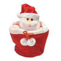 Wholesale Christmas Inflatable Santa Claus - Wholesale- 25cm Peek a boo Santa Claus Play Hide and Seek Plush Toy Lovely Stuffed Electric Music Doll Kids Baby Merry Christmas Gifts