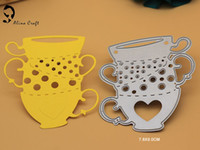 Wholesale Cups Stencil - tea cups metal Cutting Dies for vacation holiday scrapbook card album decorative steel cut dies stencil embossing template