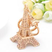 Wholesale Eiffel Torre - Torre Eiffel Tower Keychain For Key Souvenirs Paris Tour Eiffel Keychain Key Ring Decoration Key Holder DHL free ship