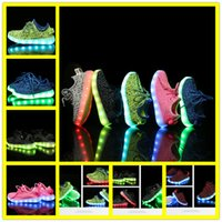 online shopping Led Luminous Shoes - 2017 Hot Led Luminous Shoes For Boys Girls Fashion Light Up Casual Kids 6 Colors Outdoor New Simulation Sole Glowing Children Sneaker