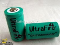 Wholesale Rechargeable Lithium Battery Cr123a - Free EMS,100PCS Ultrafire 16340 CR123A 3V CR123 Lithium Rechargeable Battery 3V 800mah Green color