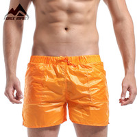 Wholesale Elastic Nylon Line - Wholesale-DESMIIT Men's Pocket Beach Shorts Solid Super Light Weight Sexy Quick Dry Men Shorts Leisure Mesh Lining Liner Board Shorts DT10