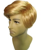 Wholesale Lace Wigs America - Donald J. Trump Wig Comb Over adult Make America Great Again Trump for President GOP wigs LLFA
