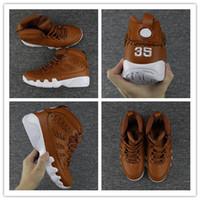 Wholesale Brown Baseball Gloves - 2017 Retro 9 Baseball Glove RET PINNACLE PACK Basketball Shoes Brown Black Sports Sneakers High Quality Retro 9s BasketballWith Shoes Box