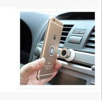 Wholesale Kinds Cell Phones - Universal 360 Degree Mini Car Cell Phone Magnetic Holder Dashboard Sticky Pad For all kinds of mobile type Ball Mount Base