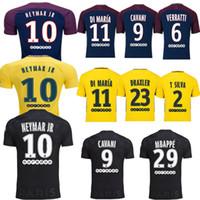 666e11820 Soccer Men Short 17 18 Soccer Jerseys Top Thai Quality Shirt 10 NEYMAR JR  DANI ALVES