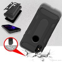 Wholesale Iphone Dual Mesh Case - New arrival Dual Layer protection 2 in 1 Hybrid Armor TPU+PC Shockproof Anti-slip mesh geometry Case For Iphone X Opp Bag
