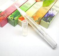 Wholesale Soften Polish - New Cuticle Revitalizer Oil Nail Art Treatment Nutritious Polish Nail Art Nutrition Fruit Flower Flavor Manicure Soften Pen Tool ZA1963