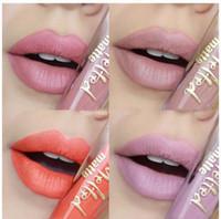 brillos de labios venden al por mayor-Nuevo TOOFACE Mate derretido licuado mate Lápiz labial de larga duración brillo labial 7ml / 0.23fl.Oz 12 colores Vende la reina B BESOS FRANCESES