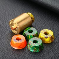 Wholesale tank stands e cig resale online - Resin Base RDA RBA Tank Clearomizer Atomizer Stand Resin Thread Metal Holder Exhibition Display for Vape Mod Drip Tip E cig