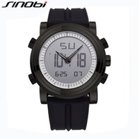 Wholesale Sinobi Male Watch - Wholesale- SINOBI Sport Watch Analog LED Digital Multifunctional Watches Men Waterproof Wristwatch Silicone Strap Male Clock Relojes Hombre