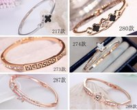 Wholesale crystal korean jewelry sets resale online - Korean female models bracelet Crystal white stone Europe happiness signal silver jewelry jewelry explosion models