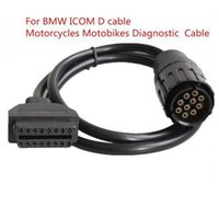 Wholesale Obd2 16pin - Carkitsshop ICOM 10Pin To 16Pin OBD2 OBDII Diagnostic Cable For BMW-ICOM D Cable ICOM 10 Pin Adaptor for BMWcar