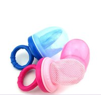 Wholesale Pink Pacifiers - New Infant Newborn Baby Net Teat Baby Food Nipple Feeder Fresh Juice taet Safe Bottles Pacifier Food Feeder Tool For Children